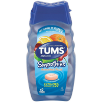 TUMS Smoothies Antacid Chewable Tablets, Assorted Fruit 60 ea [307667392876]
