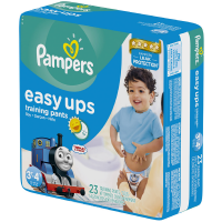 Pampers Easy Ups Training Pants Boys Size 5 30-40 LBS 23 Each [4 packs per case] [037000265863]