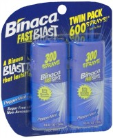 Binaca Fast Blast Breath Spray PepperMint 1 oz [014657812244]