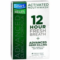 SmartMouth Advanced Clinical Formula 12 Hour Activated Mouthwash, Fresh Mint 16 oz [697366002009]