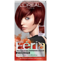 L'Oreal Paris Feria Multi-Faceted Shimmering Color, Very Rich Auburn [66] (Warmer) 1 ea [071249230138]