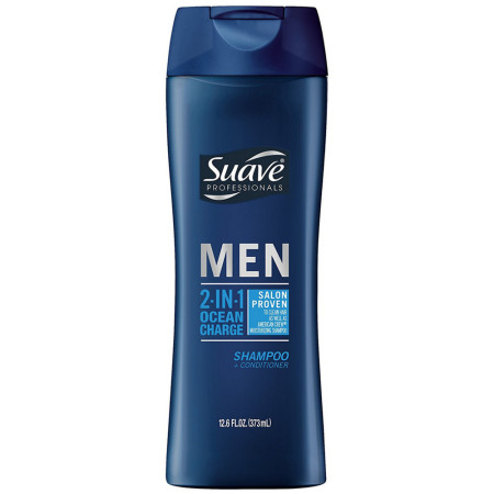 Suave Professionals Men 2-in-1 Shampoo + Conditioner, Ocean Charge 14.50 oz [079400858603]