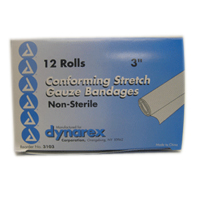 Dynarex Conforming Stretch Gauze Bandages 3 Inch Non-Sterile 12 Each [616784310329]