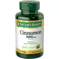 Nature's Bounty Cinnamon 1000 mg Capsules 100 ea [074312140204]