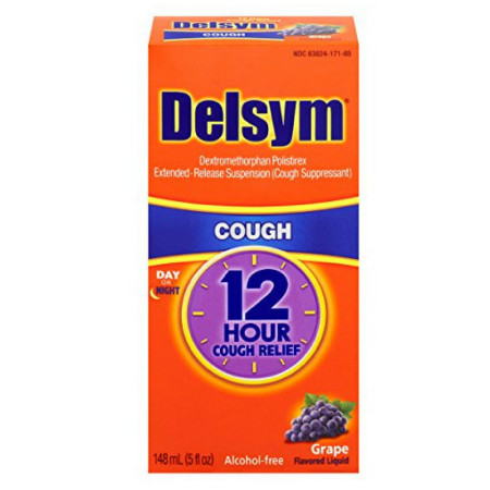 Delsym Adult Cough Suppressant Liquid, Grape Flavor, 3 oz [363824171630]