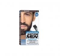 JUST FOR MEN Color Gel Mustache & Beard M-55 Real Black 1 Each [011509049056]