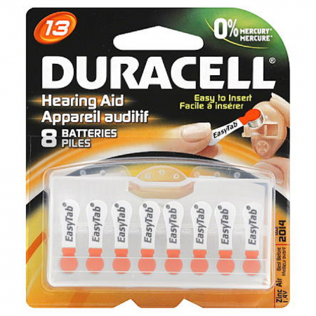 Duracell Hearing Aid Batteries [13] 8 ea [041333002774]