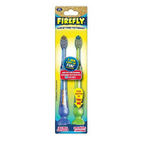 Firefly LightUp Timer Toothbrush with Suction Cup 2 ea (color may vary) [672935109938]