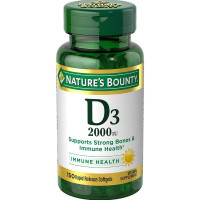 Nature's Bounty Super Strength D-2000 IU Softgels  [074312176210]