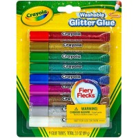 Crayola Washable Glitter Glue, Assorted Colors 9 ea [071662035273]