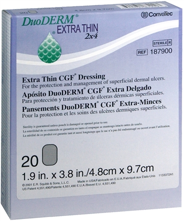 ConvaTec DuoDERM Extra Thin CGF Dressings 2 X 4 Inches 187900 20 Each [768455102778]