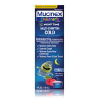 Mucinex Children's Multi-Symptom, Night Time Cold Liquid, Mixed Berry 4 oz [363824600642]