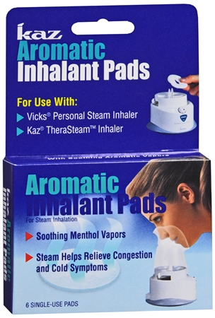 Kaz Aromatic Inhalant Pads 6 Each [328785301007]