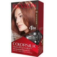 Revlon ColorSilk Hair Color 55 Light Reddish Brown 1 Each [309978695554]