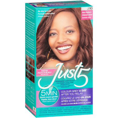 Just 5 Permanent Hair Colour Rich Auburn, [J-10] 1 ea [011509041302]