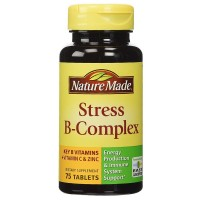 Nature Made Stress B-Complex Dietary Supplement Tablets with Vitamin C & Zinc 75 ea [031604027254]