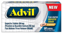 Advil Advil Film-Coated Ibuprofen 200mg Caplets 80 ea [305730134804]