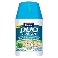 Zantac Duo Fusion Acid Reducer + Antacid Chewable Tablets, Cool Mint 20 ea [681421039048]