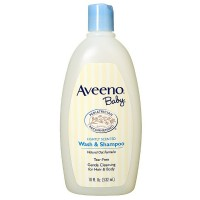 AVEENO Baby Wash & Shampoo, Lightly Scented 18 oz [381371023905]