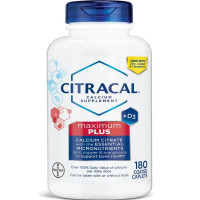 Citracal Maximum Plus Calcium Citrate Supplement With Vitamin D3, 180 Coated Caplets [016500535362]
