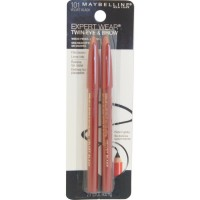 Maybelline Expert Eyes Twin Brow And Eye Pencils, Velvet Black [101], 2 ea [041554530179]