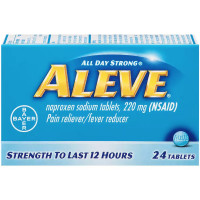 Aleve Pain Reliever/Fever Reducer Tablets, 24 ea [325866105011]