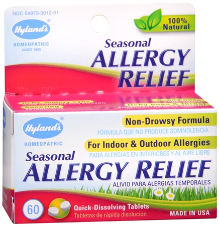 Hyland's Seasonal Allergy Relief Tablets 60 Tablets [354973301214]
