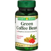 Nature's Bounty Green Coffee Bean with Raspberry Ketones & Green Tea Capsules, 60 ea [074312527104]