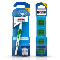 Listerine Ultraclean Access Snap-On Flosser & Flosser Refill Head 28 ea, Pack for Proper Oral Care, Mint Flavor 1 ea [191567726240]