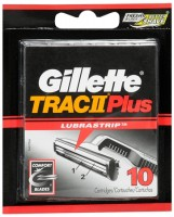 Gillette Trac II Plus Cartridges 10 Each [047400112728]