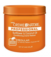 Creme of Nature Professional Sunflower & Coconut Oil Conditioning Creme Relaxer, Regular, 15 oz [075724242098]