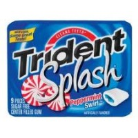 Trident Splash Sugar Free Gum Peppermint Swirl 10 pack (9 ct per pack)   [012546671279]