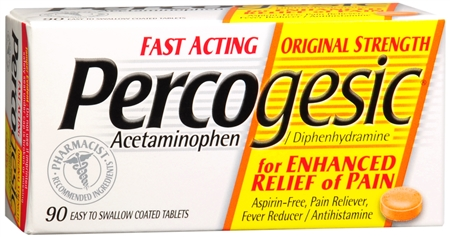 Percogesic Tablets 90 Tablets [Acetaminophen/Diphenhydramine] [375137004956]