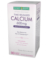 Nature's Bounty Optimal Solutions Time Released Calcium 600 mg Tablets 90 Tablets [074312508769]