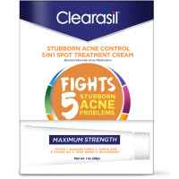 Clearasil Stubborn Acne Control 5in1 Spot Treatment Cream, 1 oz [839977008050]