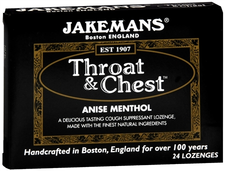 Jakemans Throat & Chest Lozenges Anise Menthol 24 Each [895164002010]