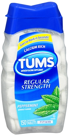 TUMS Tablets Regular Strength Peppermint 150 Tablets [307660740520]