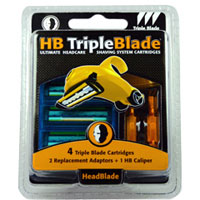 HeadBlade Triple Blade Refills Accessory Kit 4 ea [690623503240]