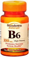 Sundown B-6 100 mg Tablets 100 Tablets [030768005719]