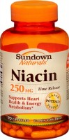 Sundown Niacin 250 mg Capsules Time Release 90 Capsules [030768039936]