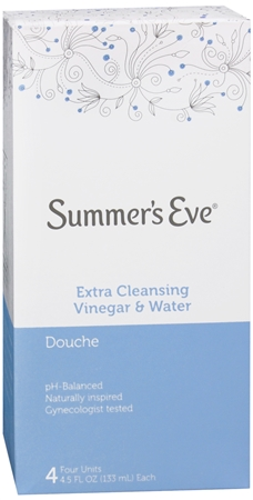 Summer's Eve Douches Extra Cleansing Vinegar and Water 4 Each [041608874747]
