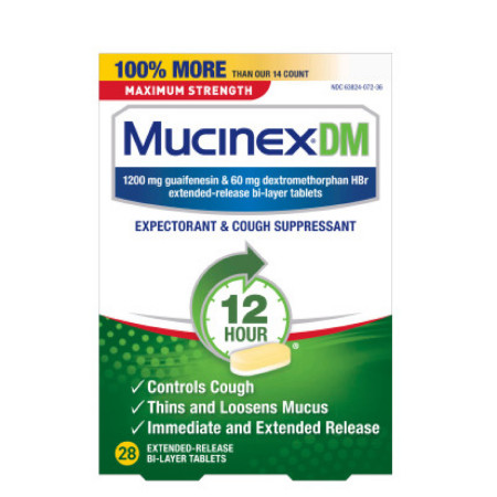 Mucinex DM 12 Hr Max Strength Expectorant & Cough Suppressant Tablets, 28 ct [363824072289]