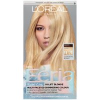 L'Oreal Paris Feria Rebel Chic Hi-Lift Blonde Multi-Faceted Shimmering Color, Ultra Pearl Blonde [11.21] 1 ea [071249315408]