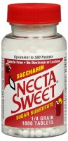 Necta Sweet Saccharin Sugar Substitute Tablets 1000 Tablets [758312171115]