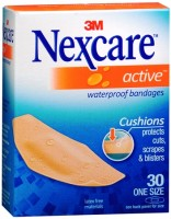 Nexcare Active Extra Cushion Bandages One Size 30 Each [051131995123]
