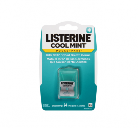 Listerine PocketPaks Cool Mint 24 Each [012547433104]