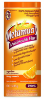 Metamucil MultiHealth Fiber Powder, Sugar Free, Orange Smooth 15 oz [037000740841]