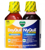 Vicks DayQuil/NyQuil Severe Cold & Flu Liquid Convenience Pack, 12 oz ea [323900017788]