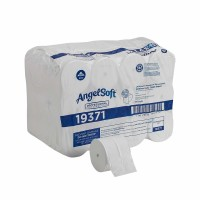 Angel Soft Professional Series Compact Premium Embossed Coreless 2-Ply Toilet Paper by GP PRO (Georgia-Pacific), 19371, 750 Sheets Per Roll, 36 Rolls [073310193717]