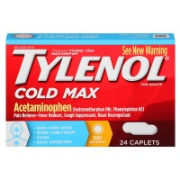 TYLENOL Cold Max Multi-Symptom Relief Caplets for Adults, Daytime 24 ea [300450271259]